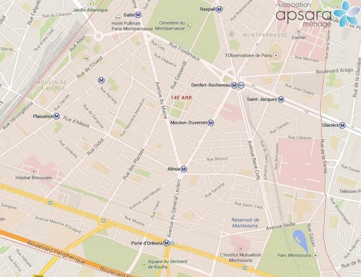 Ménage et repassage 14ème arrondissement de Paris - 75014