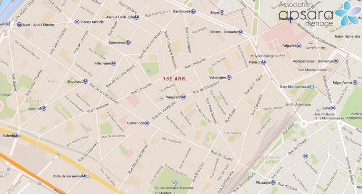 Ménage et repassage 15ème arrondissement de Paris - 75015