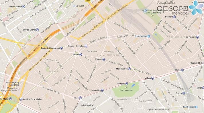Ménage et repassage 17ème arrondissement de Paris - 75017