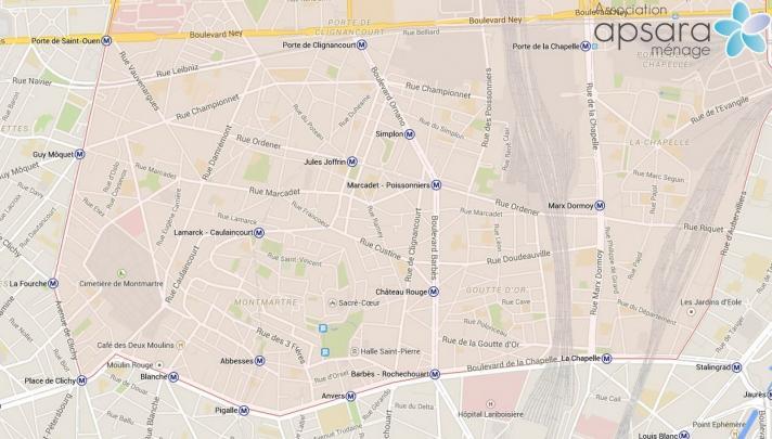 Ménage et repassage 18ème arrondissement de Paris - 75018