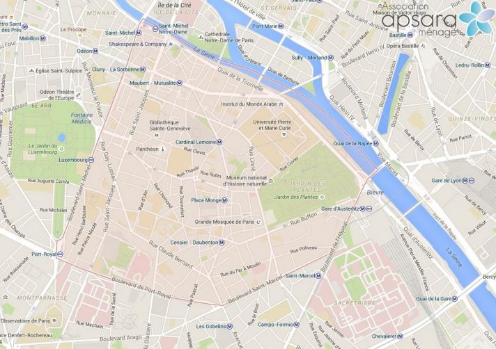 Ménage et repassage 5ème arrondissement de Paris - 75005