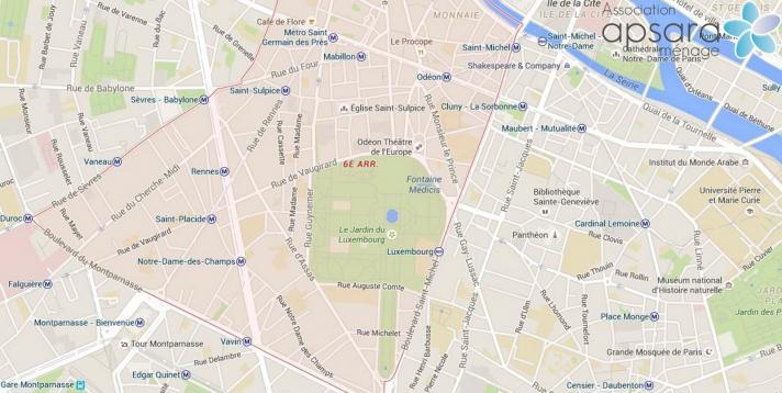 Ménage et repassage 6ème arrondissement de Paris - 75006