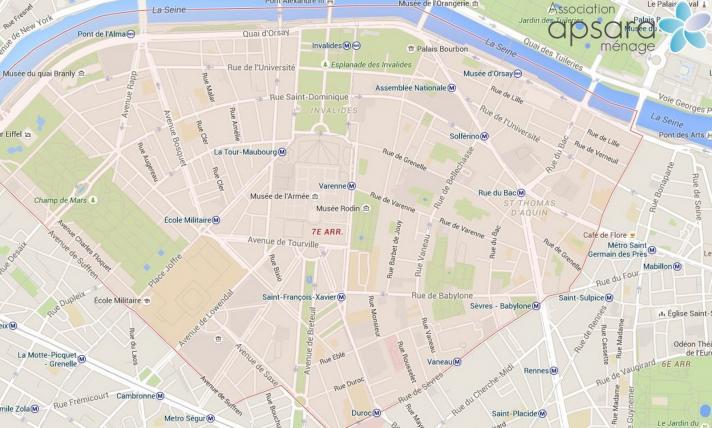 Ménage et repassage 7ème arrondissement de Paris - 75007