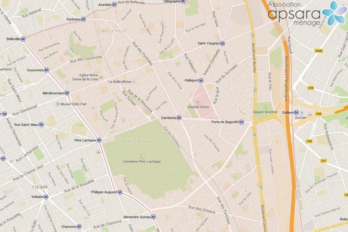 Ménage et repassage 20ème arrondissement de Paris - 75020